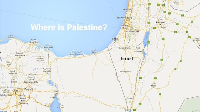 Google, onde está a Palestina?