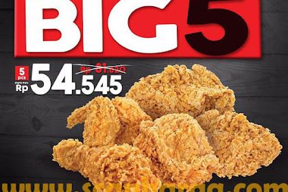 Promo KFC Big 5 Harga 5 Pcs Ayam Rp 54.545 Periode 23 - 25 Oktober 2018