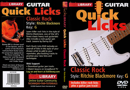 Lick Library - Quick Lick - Classic Rock, Style : Ritchie Blackmore