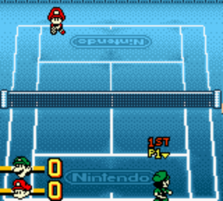 【GBC】瑪莉歐網球(Mario Tennis、馬力奧網球),可愛好玩的球類遊戲!
