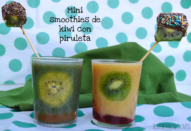 KIWIFRUIT SMOOTHIES WITH LOLLIPOPS