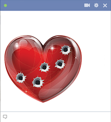 Heart icon with Bullet Holes