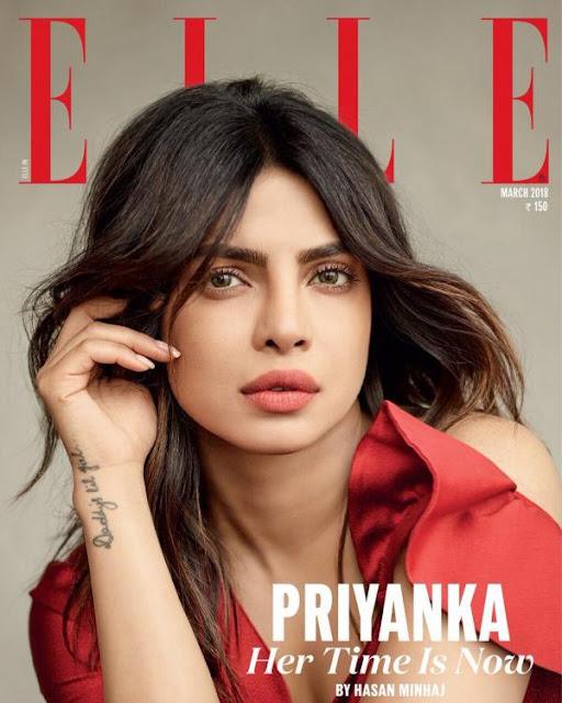 Priyanka Chopra Covers Elle Magazine March 2018 Issue