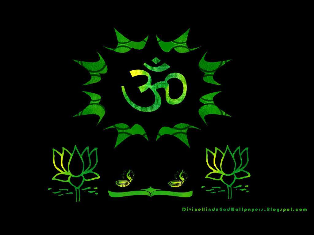 Bhakti Wallpaper Colorful Om