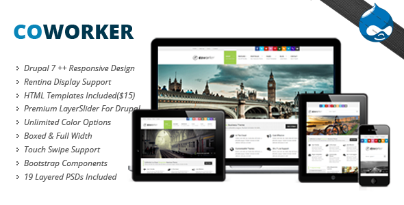 Coworker - Themeforest Responsive Drupal Theme