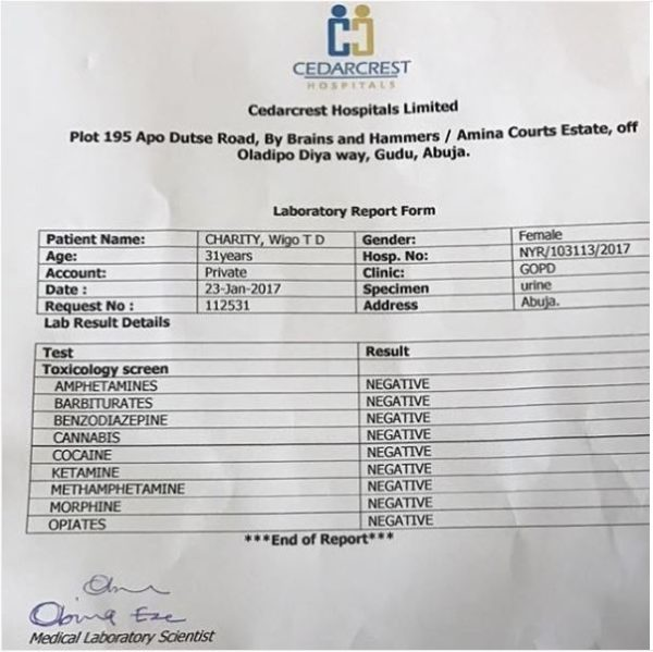 Tonto Dikeh shares lab result after it was alleged she was still drinking while pregnant