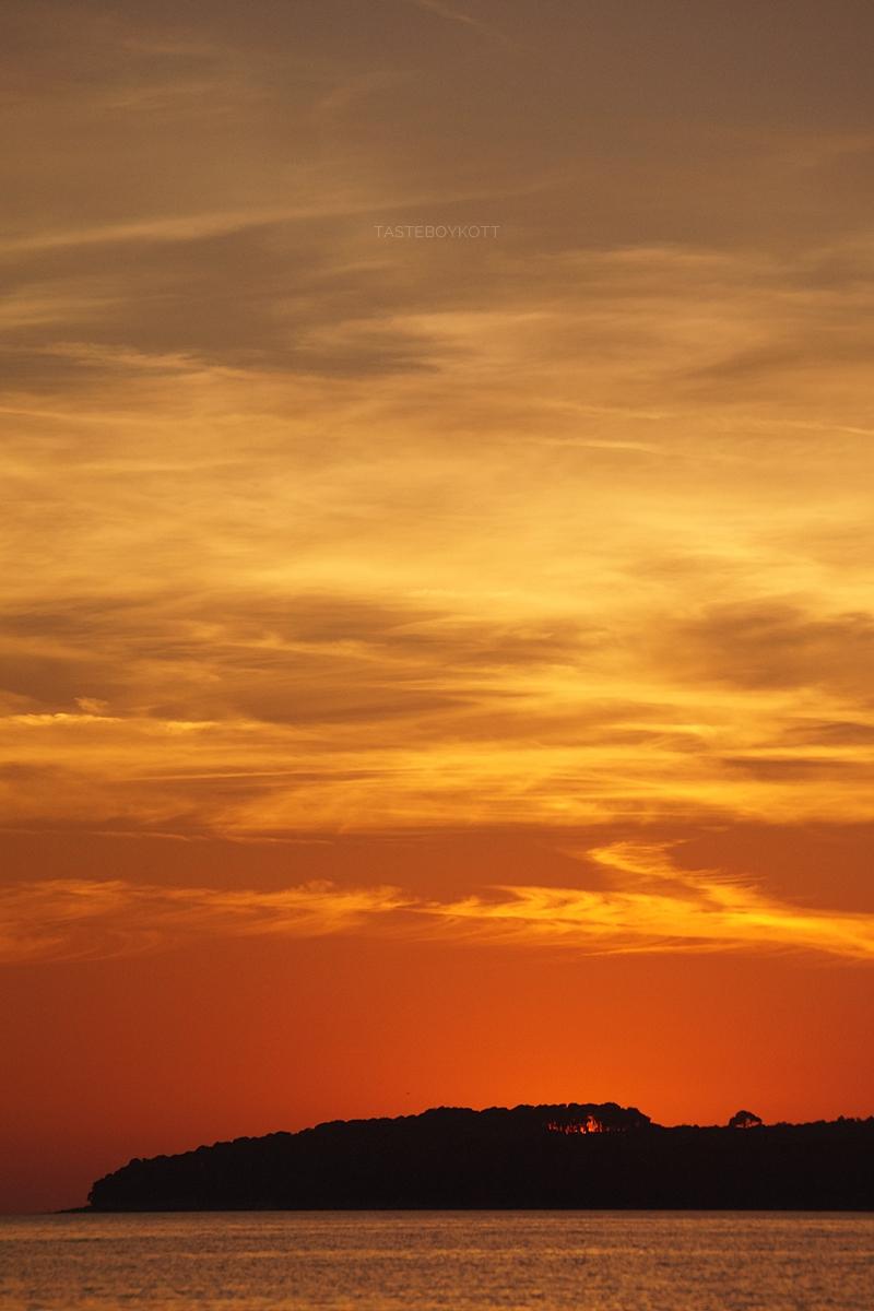 Croatia evening sky summer heaven sunset at the sea night