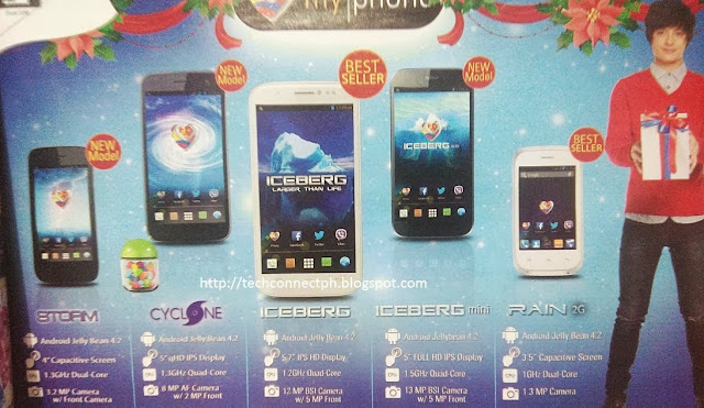 MyPhone Iceberg mini Specs and price, MyPhone Cyclone Specs and price, MyPhone Storm Specs and price