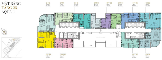 Plans Apartment Aqua 1 - The Aqua