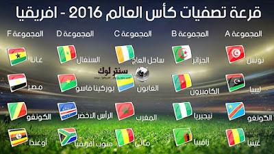 نتائج قرعة تصفيات كأس العالم 2018 وموعد مباريات مصر