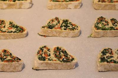 Savory Spinach, Cheese & Pepperoni Palmiers