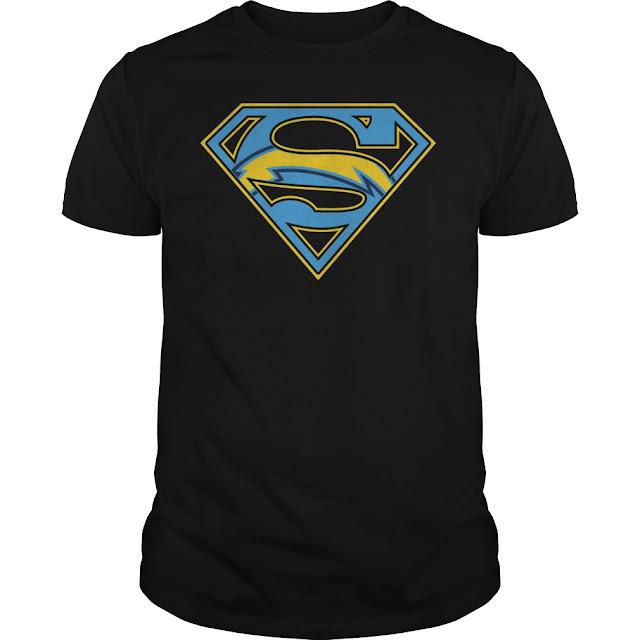 San Diego Chargers Superman Logo Shirt