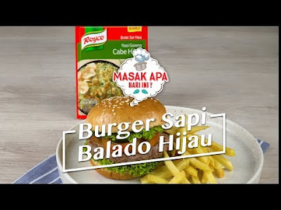 Beef Burger Recipes Balado green, a Favorite Dish with a Twist of the present