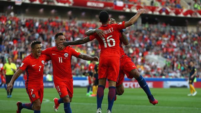 Chile celebra el empate ante Australia en la Copa Confederaciones 2017
