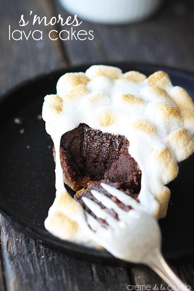 THE BEST S'MORES LAVA CAKES