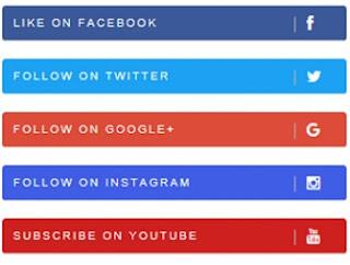 Custom Social Media Follow Widgets For Blogger Templates