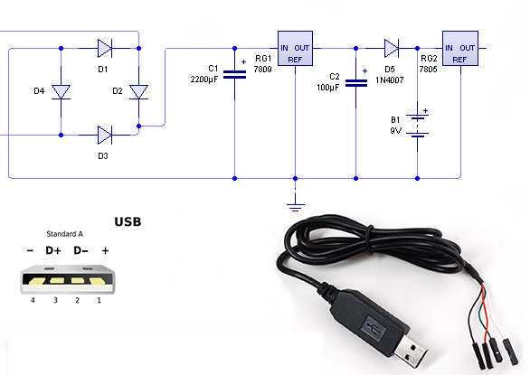 circuit electric for guide homemade usb power bank circuit diagram rh dealsover blogspot com USB 3.0 Pinout Diagram Micro USB Pinout