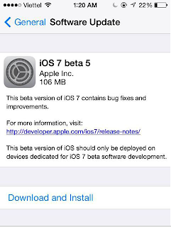 iOS 5 beta 7 can be downloaded now