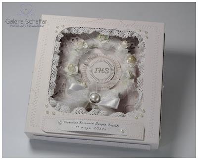 pamiątka Jessica komunia Pandora prezent pudełko niepowtarzalna kartka