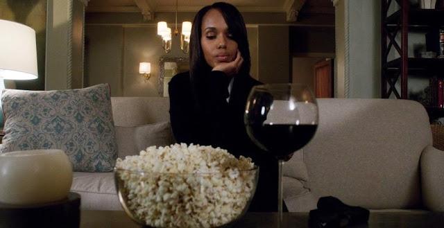 popcorn and wine