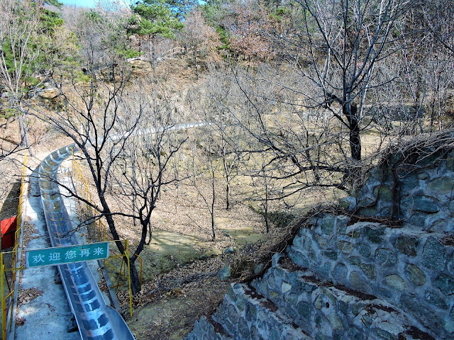 tobogan Grande muraille de Chine Pékin