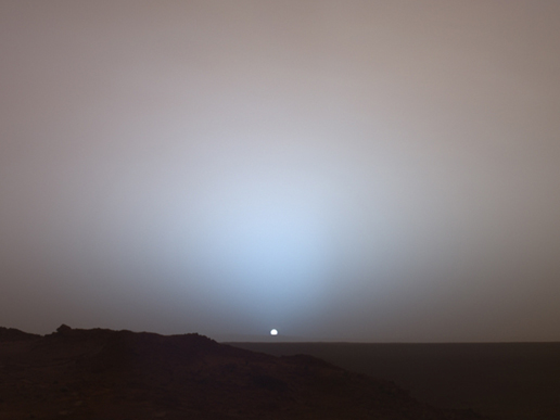 Sunset at mars