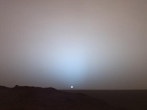 Sunset at mars