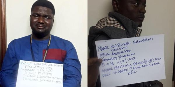 Nigerian 'Yahoo boy' in tears after he was arrested in Kenya