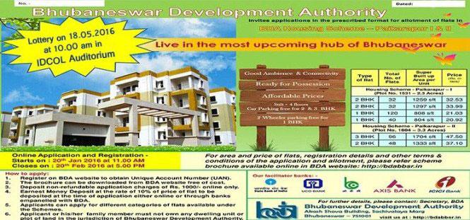 Check BDA Bhubaneswar Paikarapur-I & II Housing Scheme 2016 Lottery ...