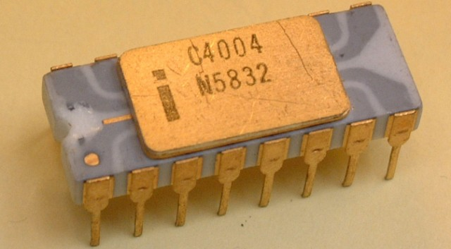 hayatta ilk defa Intel 4004