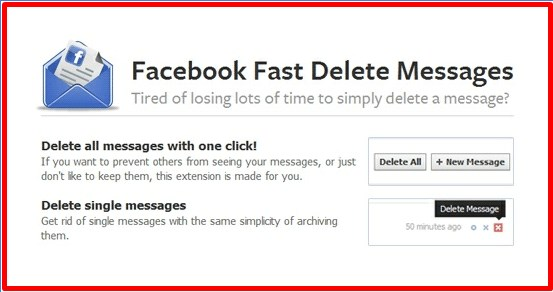 How to delete multiple facebook messages