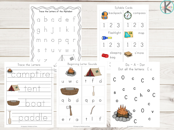 Camping-worksheets-beginning-letter-sounds-syllables-counting-letter-c