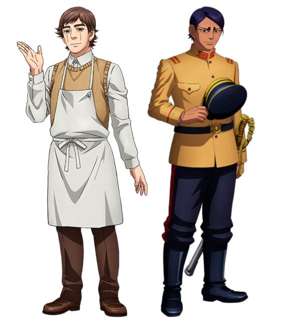 Golden Kamuy anime: Yasuku Edogai y Shoi Koito