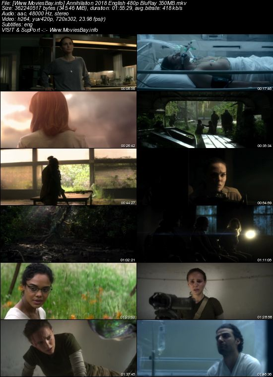 Annihilation 2018 English 480p WEB-DL 350MB worldfree4u