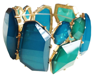 House of Gemmes What a Wonderful Julep Bracelet Teal. Via Diamonds in the Library.