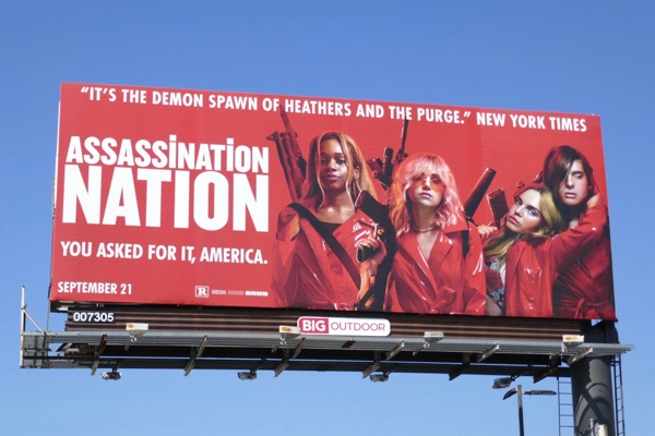 Assassination Nation movie billboard