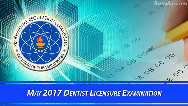 Dentist May 2017 Board Exam