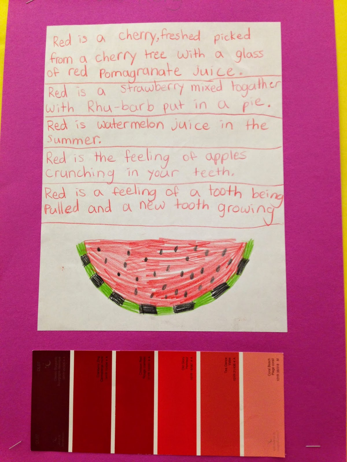 one teacher u0026 39 s adventures  grade 4 paint chip poetry