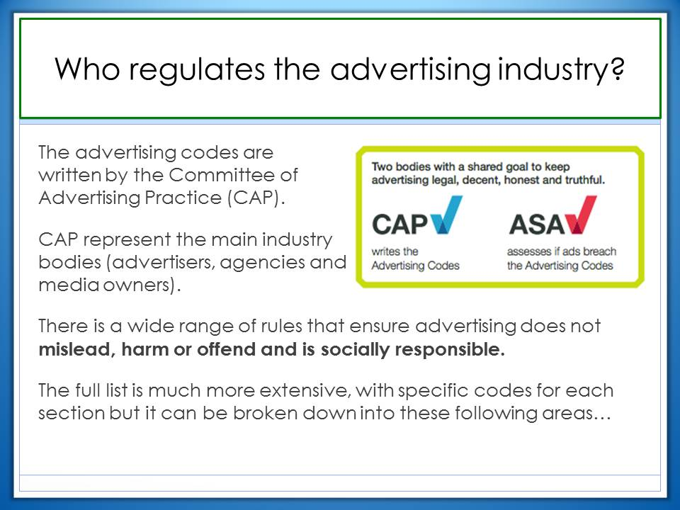 advertisers do have a responsibility to That's one reason i wanted to get away from the corporate social responsibility label because there is the point of view of.