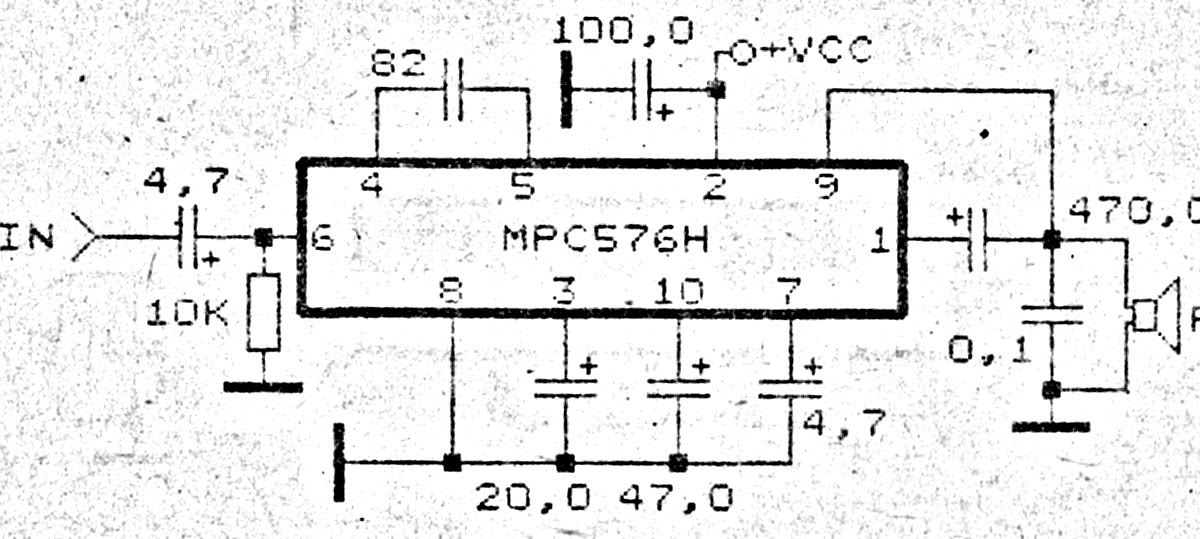 MPC576H Amplifier Circuit Diagrams