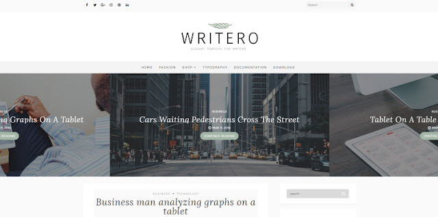 Writero Blogger Template 2017