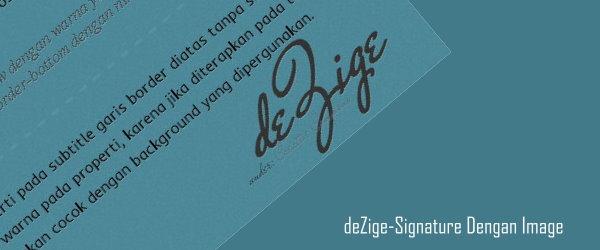signature tanda tangan