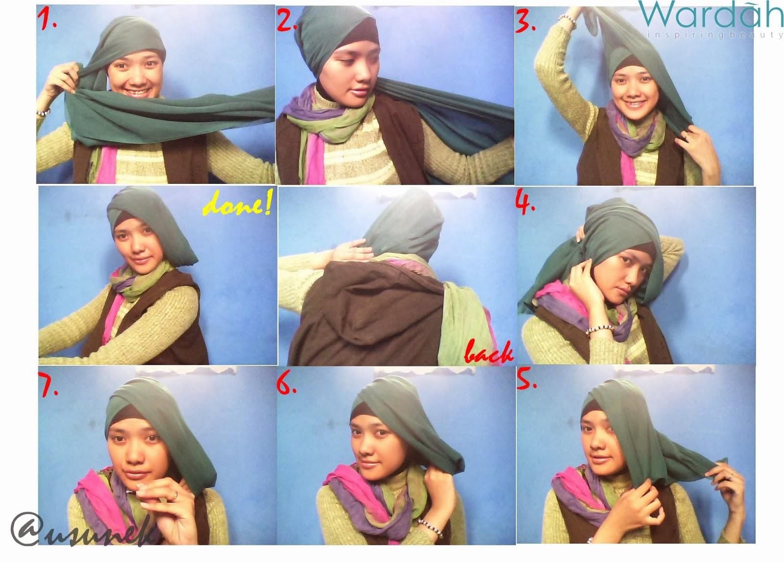Gambar Tutorial Hijab Segi Empat Wardah Modernhijab77
