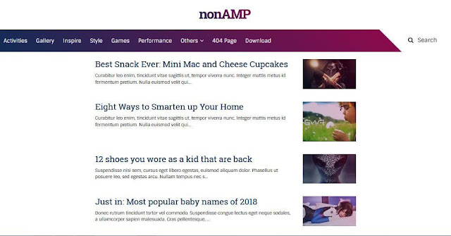 Nonamp - Template Blog Simple Sederhana Gratis