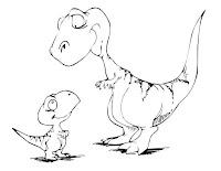 דפי צביעה דינוזאורים