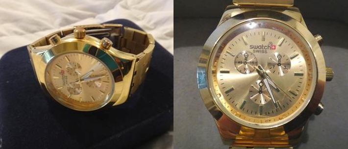 855e9c22580 Blog das Comprinhas  Relógio Swatch Dourado