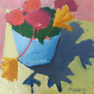 small floral painting by artist barb mowery available in her etsy shop bbmowery