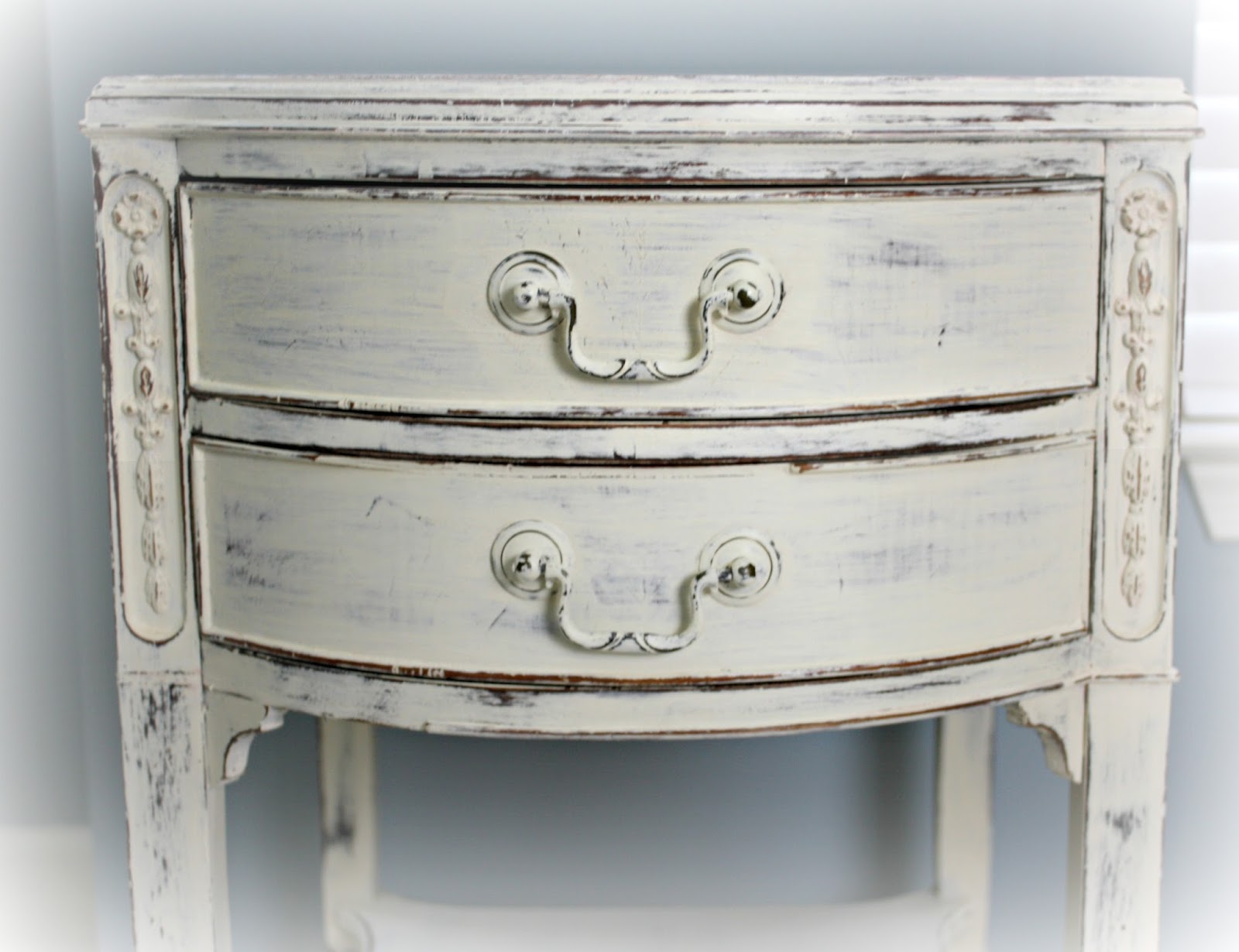 Bowed drawer fronts