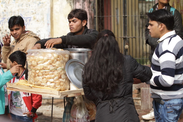 A golgappa moment from Orchha, Madhya Pradesh