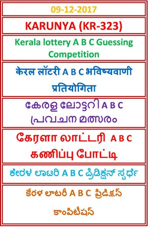 A B C Guessing Competition KARUNYA KR-323